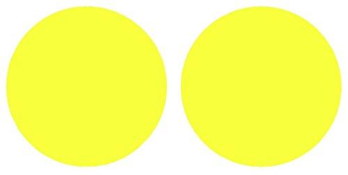 Light Screens Fog (Precut Vinyl Tint Cover for 2016-2017 Honda Civic Foglights (Yellow))