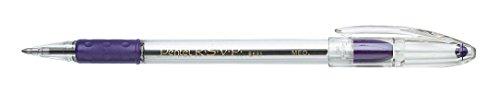 Pentel BK91V R.S.V.P. Stick Ballpoint Pen, 1mm, Trans Barrel, Violet Ink (Pack of 12)