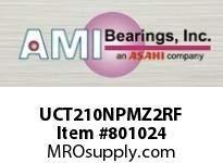 BALL BEARING AMI UCT210NPMZ2RF 50MM ZINC SET SCREW RF NICKEL TAKE