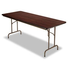 ** Folding Table, Rectangular, 72w x 30d x 29h, Walnut
