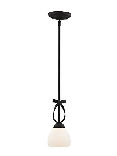 Livex Lighting 4750-04 Brookside 1 Light Mini Pendant, Black ()