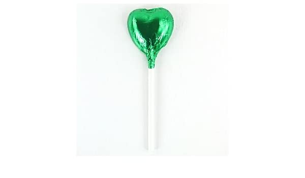 Verde corazón Chocolate Lollipop - 10g: Amazon.es: Juguetes ...