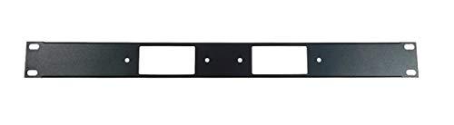 1U Procraft Decora AV 16 ga. Formed Aluminum Rack Panel - Two Inserts