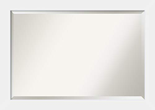 Amanti Art Framed Mirrors for Wall   Corvino White Mirror for Wall -