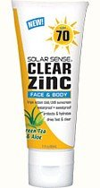 Solar Sense Clear Zinc SPF 70 Lotion for Face & Body, 3-Ounce