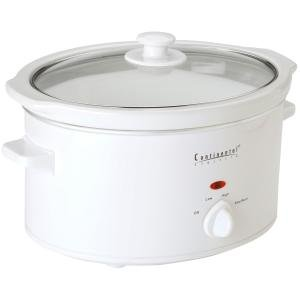 4qt Oval Slow Cooker White