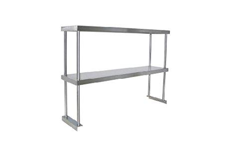 Adjustable Double Overshelf 18 x 72 - Stainless Steel by ACME USA