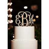Personalized Monogram Wedding Cake Toppers Rustic Wood