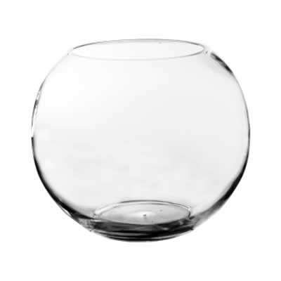 Size. Hand Blown Glass, Not Machine Made (Pack of 1 pc) (Glass Decorative Bowl)