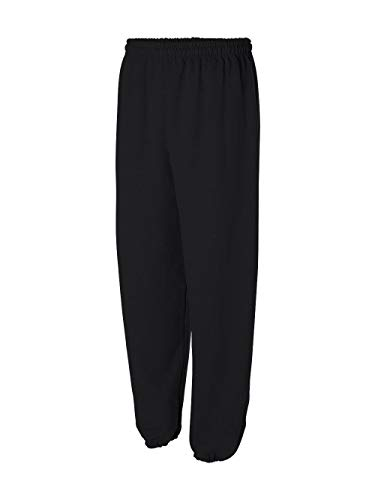 Gildan Adult 7.5 Sweatpant 18200 (L / Black) (Heavyweight Gildan Jersey)