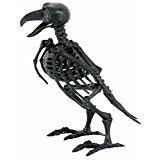 Small Black Skeleton Raven Decoration (Bird Head Skeleton)