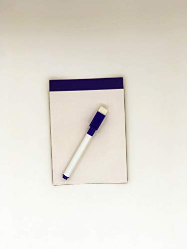 WB03 Mini whiteboard Magnetic Board, 4 inches x 6 inches. Includes Magnetic Eraser Marker Pen (Blue) ()