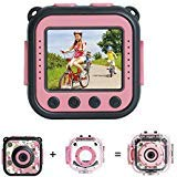 [Upgraded] PROGRACE Kids Waterproof Camera Action Video Digital Camera 1080 HD Camcorder