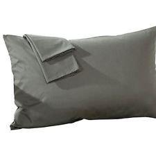 Precious Star Linen 500 Thread Count Super Soft 2pc Pillow Case Solid Travel/Toddler/Baby Pillow case Size (12'' x 16'') Hidden Zipper Closure Egyptian Cotton (Dark Grey Solid)