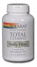 Solaray - Total Cleanse Daily Fiber, 120 (4 Total Cleanse Part)