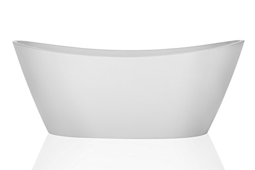 Find Cheap Empava 67 Luxury Freestanding Acrylic Soaking SPA Tub Modern Stand Alone Bathtubs with C...
