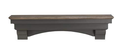 Pearl Mantels 499-48-27 Hadley Mantel Shelf, 48-Inch, Cottage Distressed by Pearl Mantels