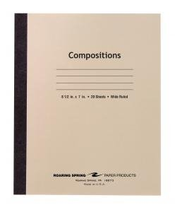 Bulk Manila Cover Flex Composition Books 8.5''x7'' Wide Ruled, 20 Sheets: Roaring Spring 77340 (288 Composition Books) by Roaring Spring (Image #1)