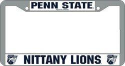 Penn State Nittany Lions Chrome License Plate Frame