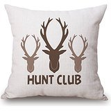 [Deer Throw Pillow Case ,best For Boy Friend,relatives,chair,office,divan,indoor 18 X 18 Inches / 45 By 45 Cm(twice] (Red Crayon Tank Dress Costume)