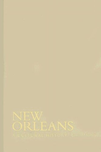 New Orleans: A Cultural History (Cityscapes) pdf