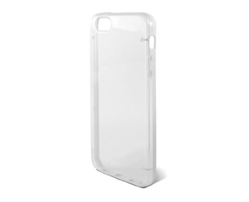 KSIX B0914CAR11 Edge Hard Cover für Apple iPhone 5 transparent/weiß