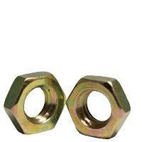 7/8''-14 Hex Jam Nuts, Steel, Zinc Yellow Plating (Quantity: 400)