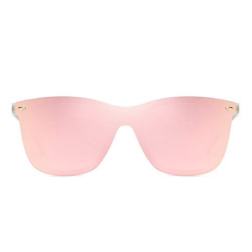 412cc1081a JIM HALO Rimless Mirrored Sunglasses One Piece Frameless Eyeglasses Men  Women (Transparent Frame Mirror