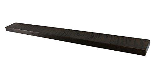 """60"""" W X 6"""" D X 2"""" H, Mocha, Rustic, Floating Wood Shelf, Sol"""