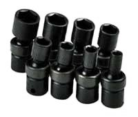 (SK Hand Tools 33300 8-Piece 3/8-Inch Drive 6 Point Swivel Fractional Impact Socket)