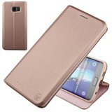 Nouske Samsung Galaxy S6 Edge Plus Wallet Case with Credit Card Holder and Stand Shockproof PU leather Flip Bumper,Rose Gold
