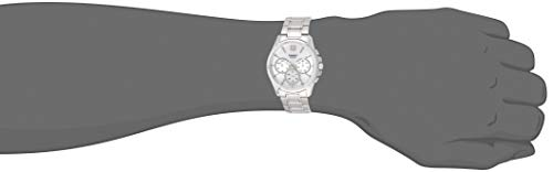 Casio MTP-E315D-7AV Men's Stainless Steel Multi-Hands Silver Dial Analog Watch
