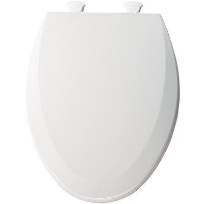 Elongated Molded Wood Toilet Seat with Easy Clean and Change Hinges