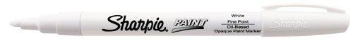 Sharpie Permanent Paint Marker, Fine Point, White