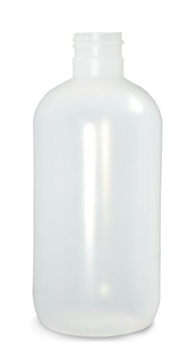 - Qorpak PLA-03337 Natural LDPE Boston Round Bottle with 28-400 Neck Finish, 16oz Capacity, 79mm OD x 154mm Height (Case of 140)