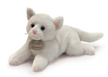 Russ Berrie Yomiko - Gato de peluche (30,5 cm), color blanco