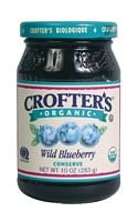 Crofter's Organic Wild Blueberry Conserves, 10-ounce Jars (Case of 6)