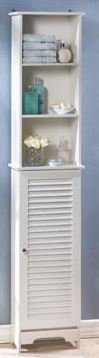 MD Group Storage Cabinet Bathroom Wood Kitchen White Organizer Floor Shelf Shelf Toilet New Space by