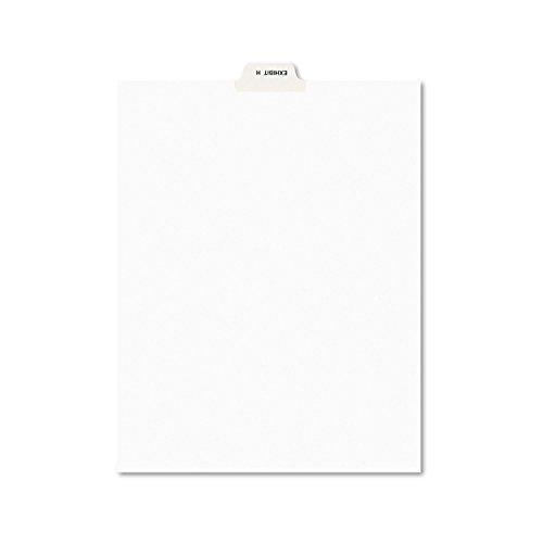 Avery 11947 Avery-Style Preprinted Legal Bottom Tab Divider, Exhibit H, Letter, White (Pack of 25)