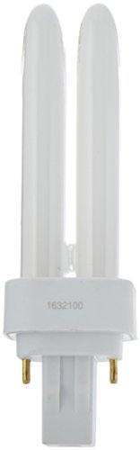 TCP Fluorescent Quad Tube PL Lamp, 13W (810 Lumens), Soft White (2700K) 2-Pin (GX23-2 (Quad Compact Fluorescent Lamp)