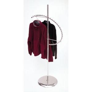 "Spiral Clothing Rack - Econoco Heavy Duty Retail Costumer - Hat Tree - Jacket Holder - Shirt Organizer - Displays 29 Garments - 67""H"