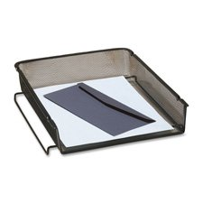 Rolodex Mesh Stackable - Rolodex 22211ELD Mesh Stackable Front Load Letter Tray Wire Black
