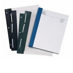 Clear Front Covers, 2'' Capacity, 11'' x 8 1/2'' side bound, 3-hole, Black, Sold in boxes of 25