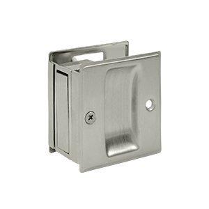 Deltana SDP25 2-1/2 x 2-3/4 Solid Brass Adjustable Pocket Door Passage Lock, Satin Nickel by Deltana