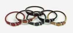 Dog Pet Leather Collar - Coastal Pet Circle T Oak-Tanned Rolled Leather Dog Collar (Tan,10