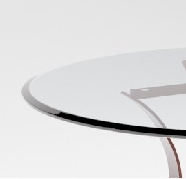 30'' Inch Round Glass Table Top 3/4'' Thick Tempered Beveled Edge by Fab Glass and Mirror by Fab Glass and Mirror