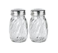 Anchor Hocking Swirl Glass Salt and Pepper Shaker with Lid, 3_ oz. (Set of 2)