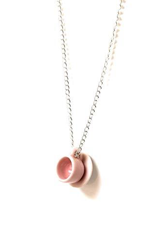 (Teacup Charm Pendant Chain Necklace 20 Inch)