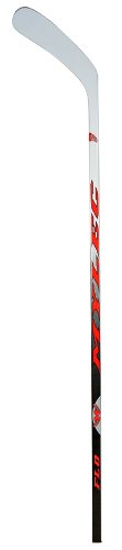 - Mylec FLO One Piece Composite Hockey Stick, White/Black/Red, Right