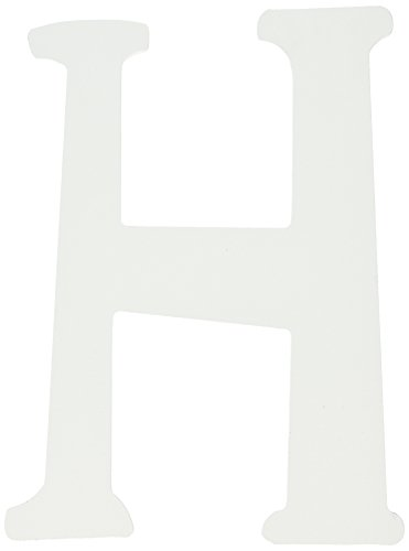 My Baby Sam Wall Hanger Letter H, Solid White
